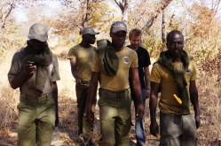 Joel and the Anti-Poaching unit looking for snares
