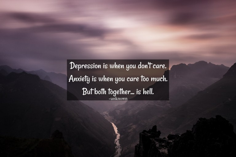 depression and anxiety quote