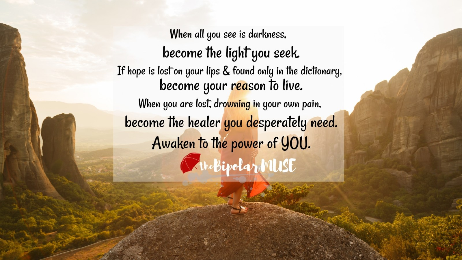 positive quote- become and awaken to the power of you