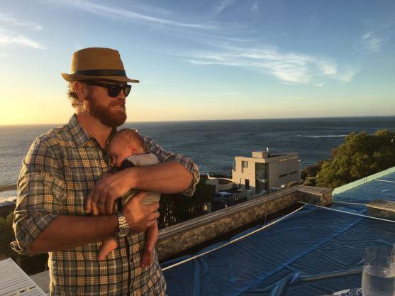 the Beard holding Baby J
