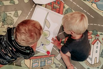 Boys drawing
