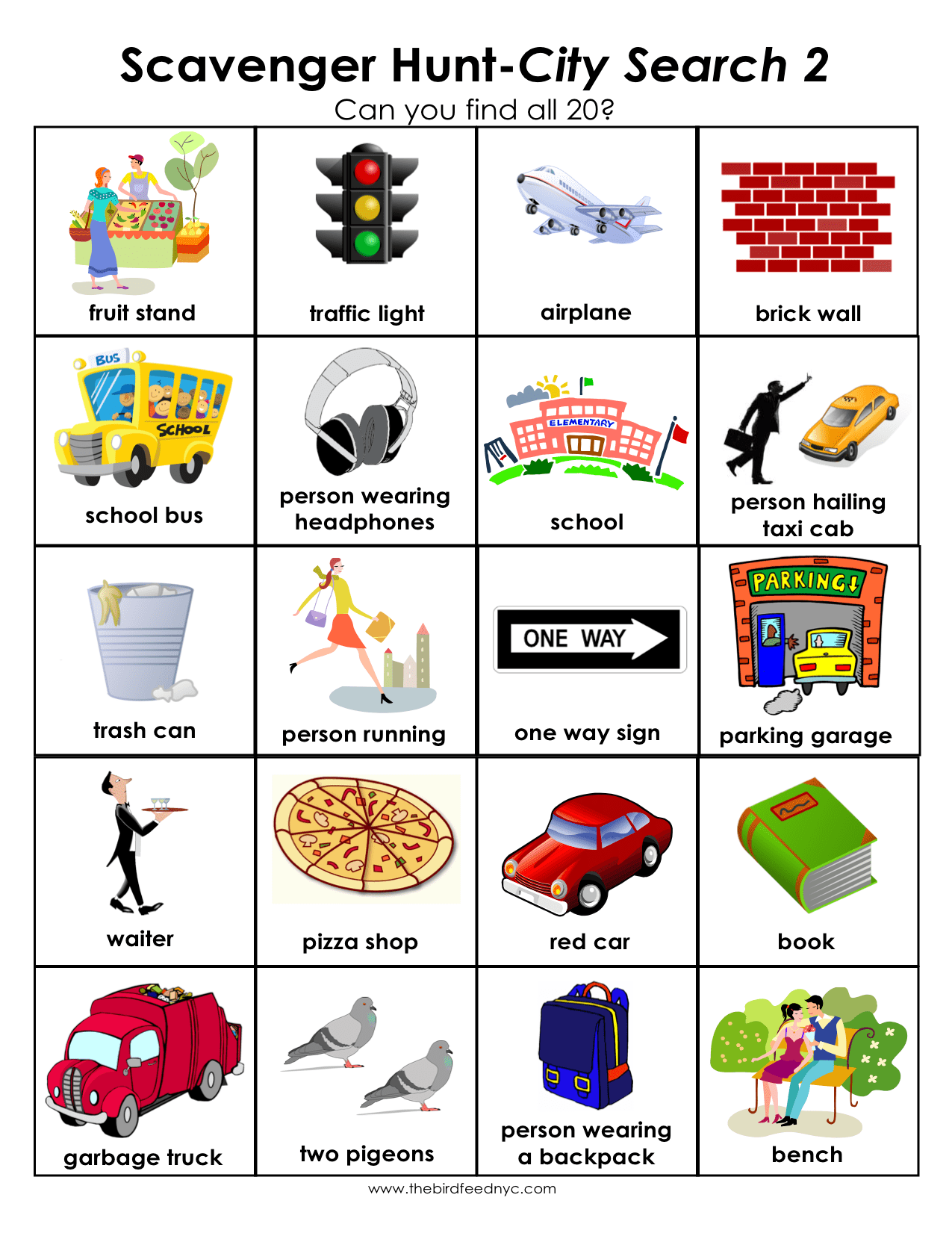 Garden Scavenger Hunt Worksheet