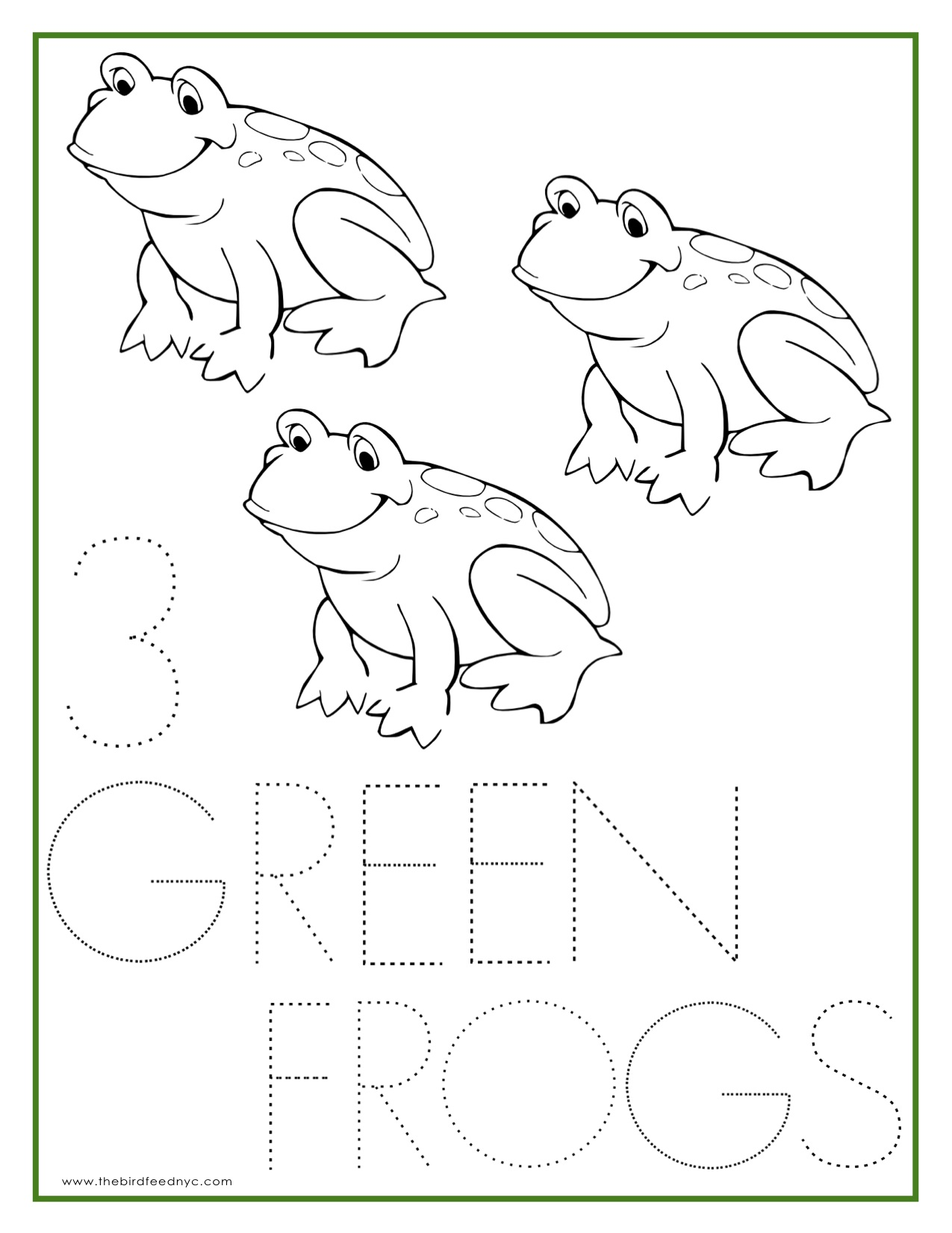 Coloring Sheets For Preschoolers Color Green Coloring Pages