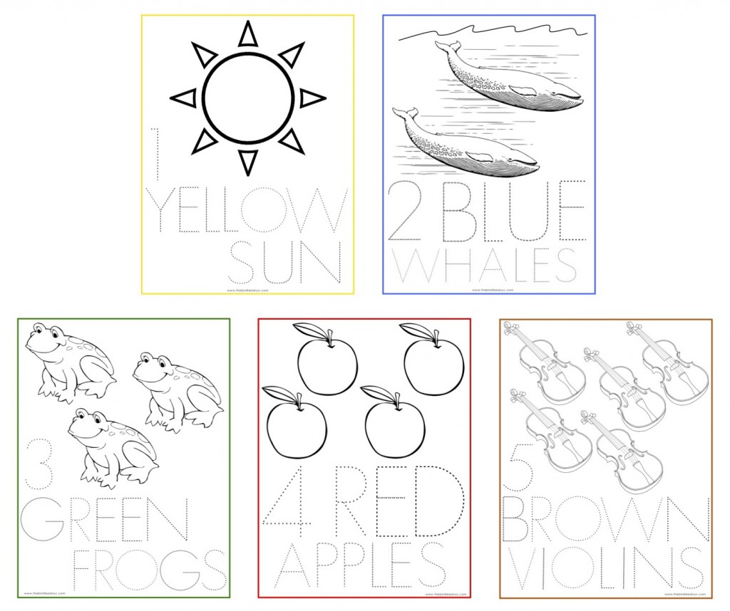Numbers Coloring Sheets 1