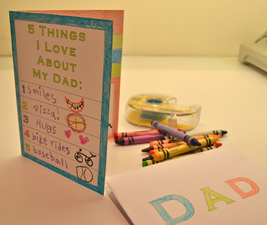 Printable Father S Day Card For Kids