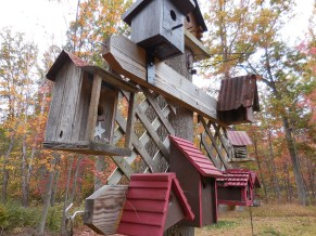 The birdhouses from another angle.