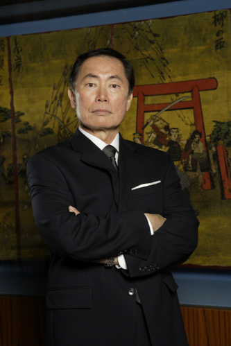 Yes.  George Takei is in the CC3 cut scenes