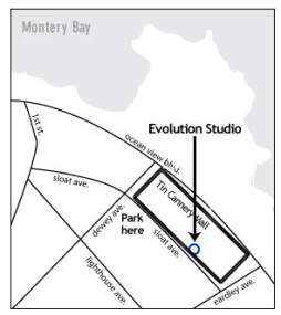 Map to Evolution Transformative Arts in Pacific Grove