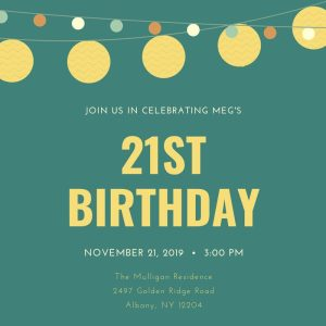 21st Birthday Invitation Wording