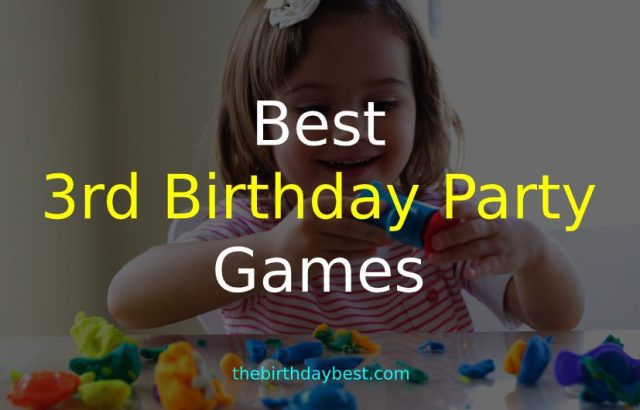 3rd Birthday Party Games