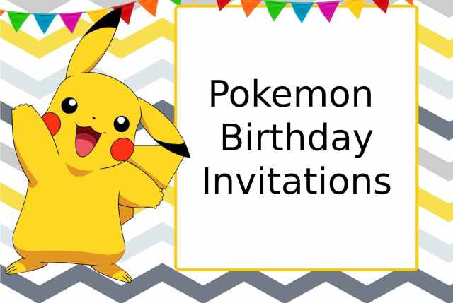 Pokemon Birthday Invitations