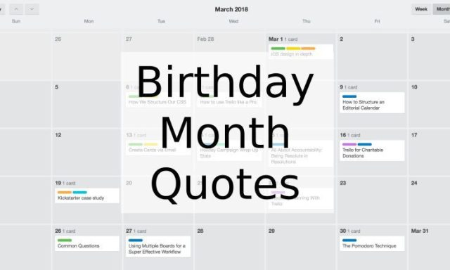 Birthday Month Quotes