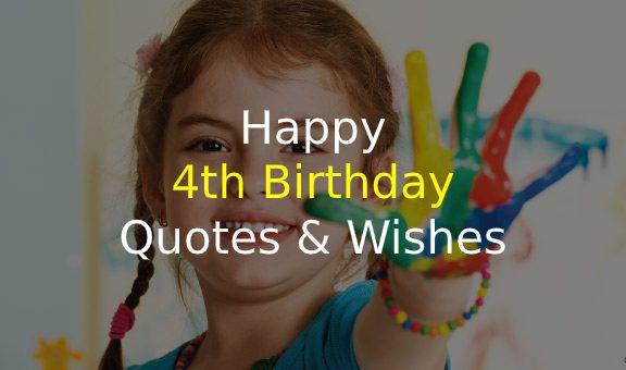 4th Birthday Quotes