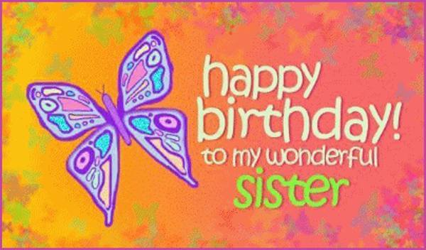 Happy Birthday Butterfly For Sister The Birthday Wishes