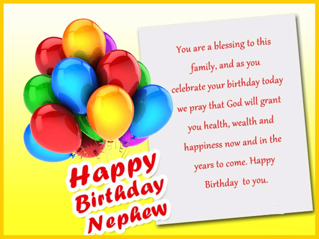 Happy Birthday Nephew Wishes Quotes Messages Status Images The Birthday Wishes