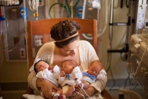 triplets birth story
