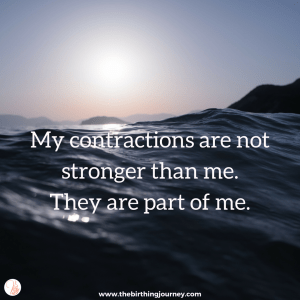 The Birthing Journey Birth Affirmation My Contractions Are Part of Me