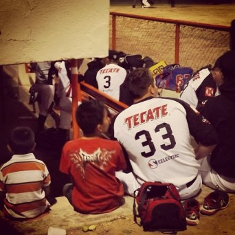 Kid Magnet in the Dugout 2014