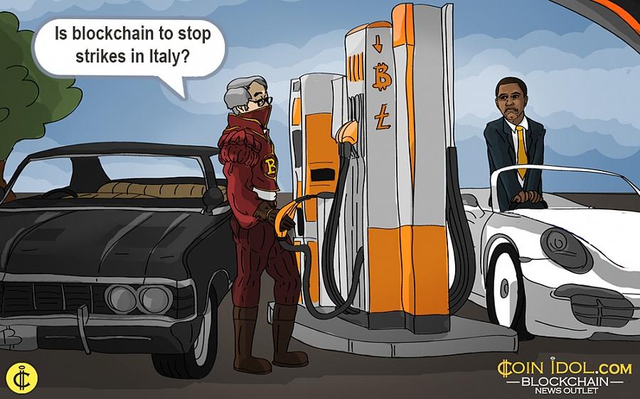 3p9DR9 - M5S Uses Blockchain to Stop Abuse During Gas Station Strike