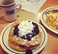 Boys' first meal @ Ihop