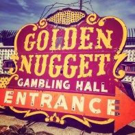 Original 'Golden Nugget' sign @ The Neon Museum.
