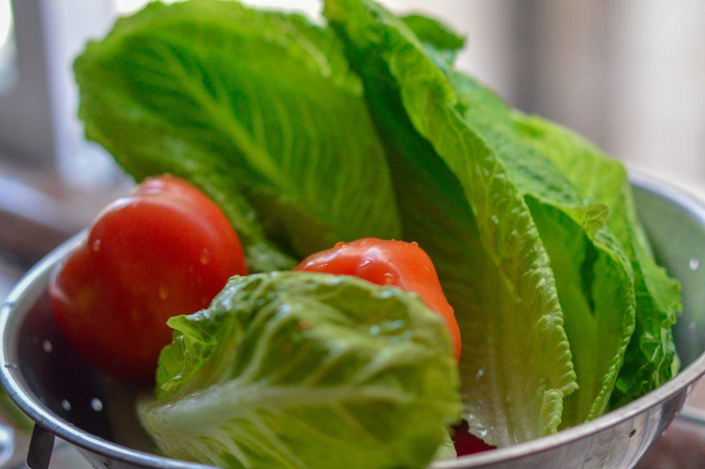 vegetables for fattoush