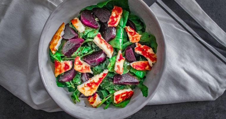 Beetroot Halloumi Salad