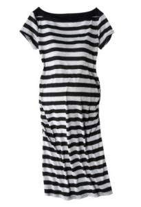 Ma Cherie Striped Maternity Dress