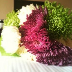 flowers push present