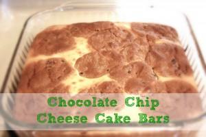Chocolate Chip Cheese Cake Bars