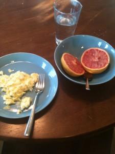 Scrambled Eggs and Grapefruit