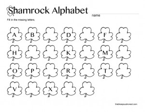 Shamrock-Alphabet printable
