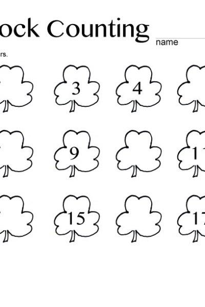 Shamrock-Counting printable