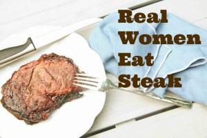 real women eat steak