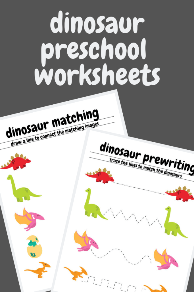 Free Dinosaur Preschool Worksheets - The B Keeps Us Honest