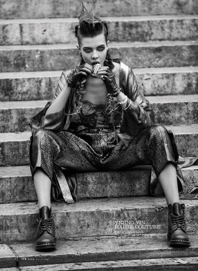 Léa Julian in Yikin Ying Haute Couture @ Benjamin Kanarek