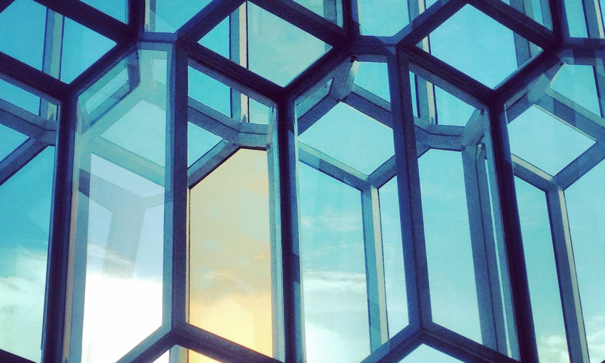 windows of the harpa