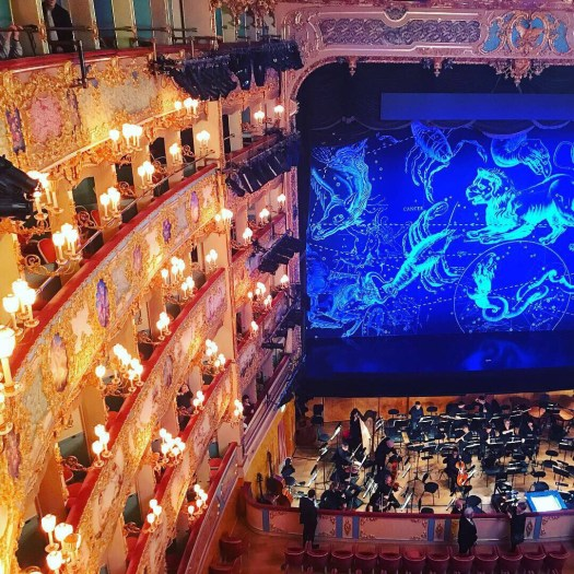 Photo of the set for Otello at La Fenice