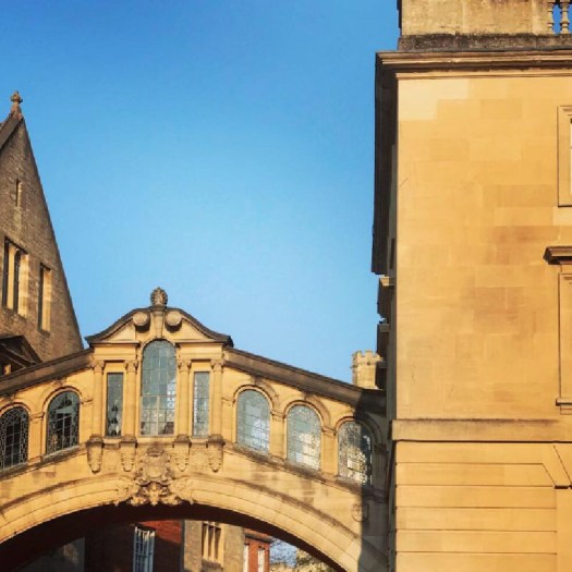 Photo of the bridge of sighs in oxford