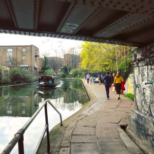 Photo of people strolling along Regents Canal
