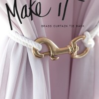 MAKE IT // brass curtain tie back