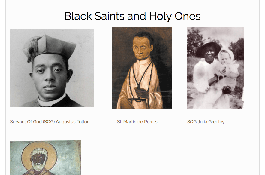 """""""Black (And Catholic) Like Me"""" Article-Series Introduction and Black Saints Page"""