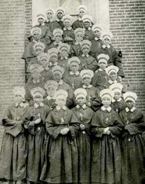 Oblate Sisters of Providence. I do not think Mother Lange is in this picture. Public Domain.
