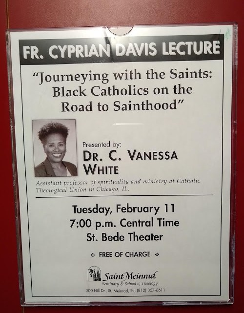 Black History Lecture at Seminary Tonight! St. Meinrad's 2020 Father Cyprian Davis Lecture