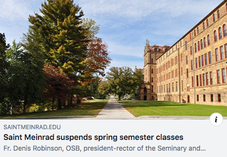 Personal Update – Seminary Spring Semester Cancelled Due to Epidemic