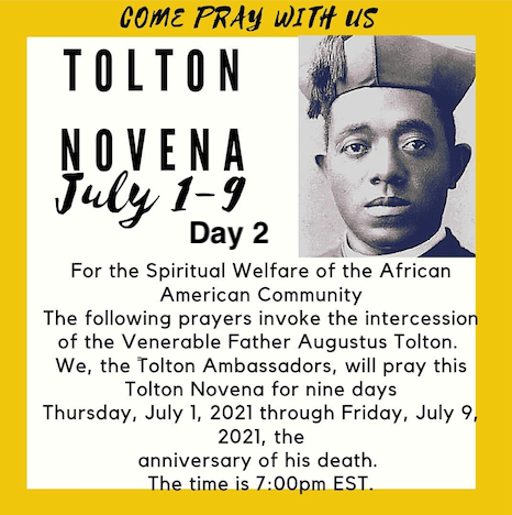 Tolton Novena for the Spiritual Welfare of the Black American Community (July 1-July 9) [124th Anniversary of Tolton's Death] – Day 2: FOR THE MORAL FORMATION OF THE BLACK COMMUNITY