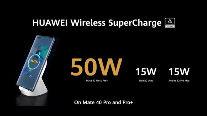 Huawei Mate 40 Pro and Pro + Charging