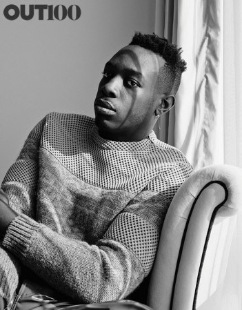 Le1f: Photography by Ryan Pfluger at the Strand Hotel, New York, on September 23, 2015. Styling by Javon Drake. Groomer: Andi Y. sweater and pants by Calvin Klein Collection.
