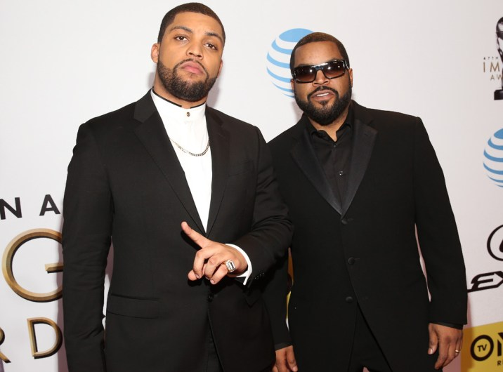 ICE CUBE AND SON OSHEA JACKSON JR NAACP IMAGE AWARDS 2016 RED CARPET