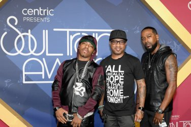 LAS VEGAS, NV - NOVEMBER 06: (L-R) Recording artists Sisqo, Nokio the N-Tity and Antwuan 'Tao' Simpson of Dru Hill attend the 2016 Soul Train Music Awards at the Orleans Arena on November 6, 2016 in Las Vegas, Nevada. (Photo by Ethan Miller/Getty Images)